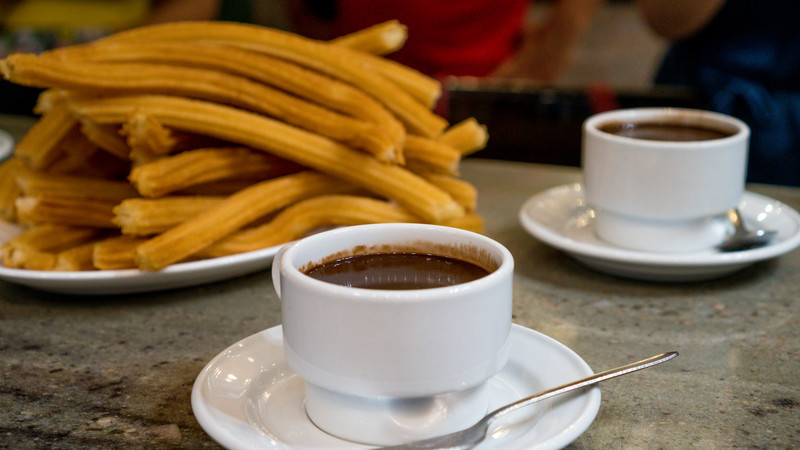 Churros and chocolate in Madrid