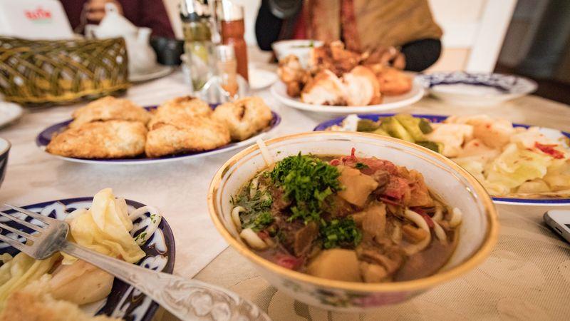 Noodle soup in Uzbekistan