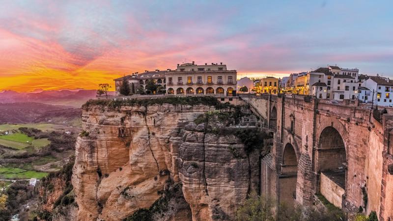Clifftop village in Spain