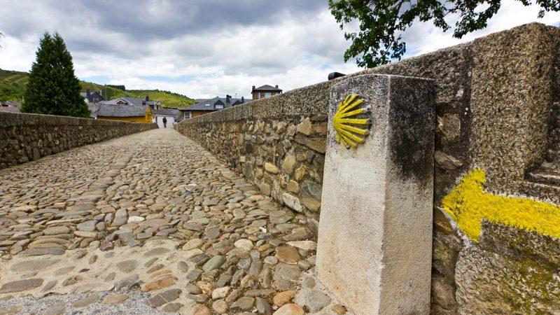 Roman bridge in Molinaseca, Camino de Santiago