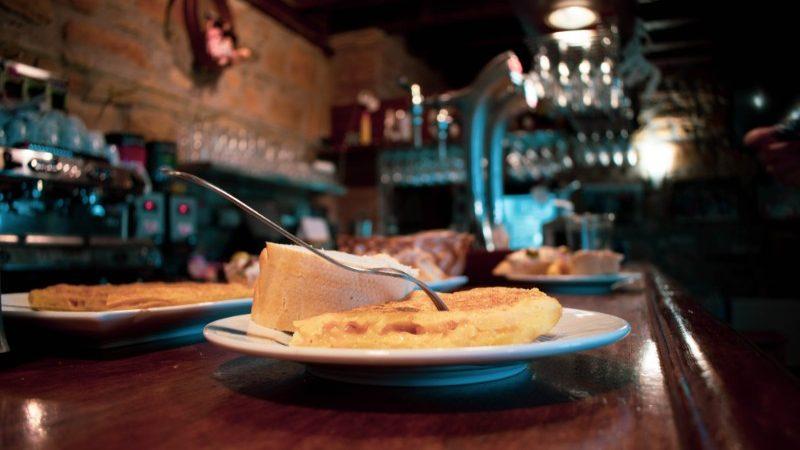 A plate of food in Spain