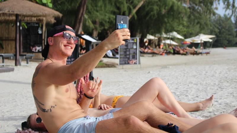 Selfies in Sihanoukville, Cambodia