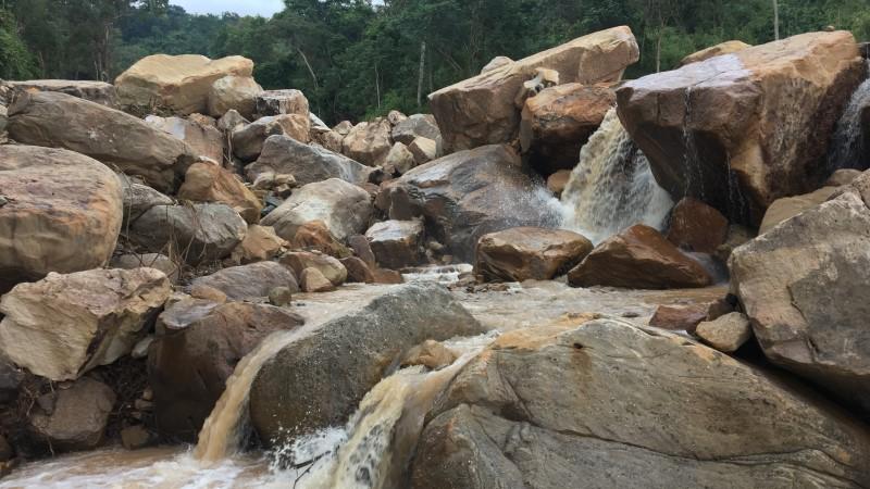 Chambok waterfall in rural Cambodia
