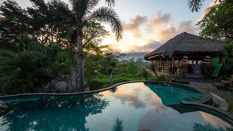 Sunrise in Sidemen, Bali.