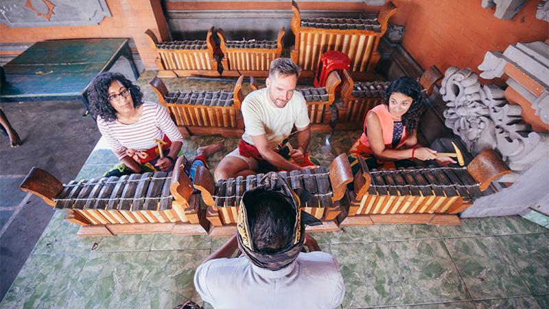 Gamelan lesson, Bali.