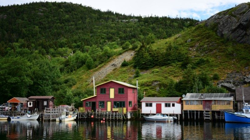 A fishing village in Newfoundland