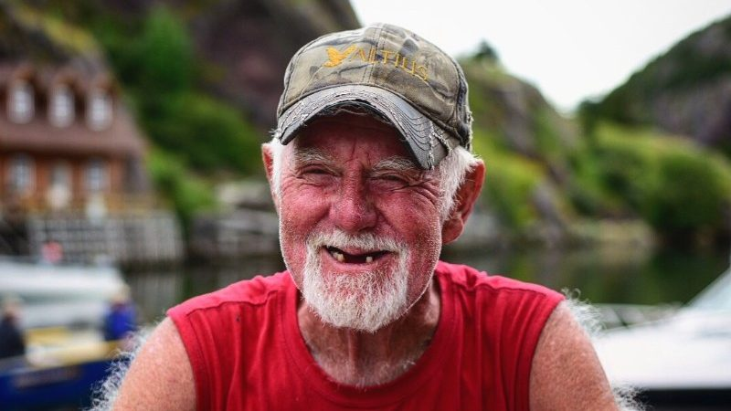A smiling fisherman in Newfoundland