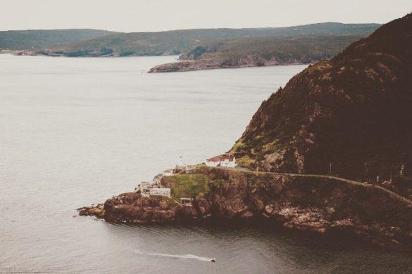 Aerial view of Newfoundland coast