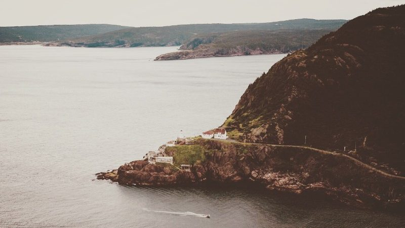 Aerial view of Newfoundland coast