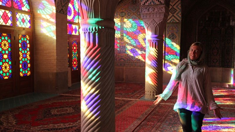 A woman in a mosque in Iran
