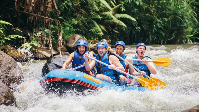 White water rafting in Bali.