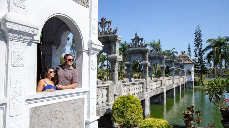 Taman Ujung Water Palace in Bali.