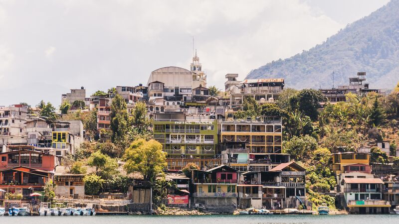 City of the shores of Lake Atitlan
