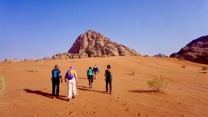 hiking Jordan