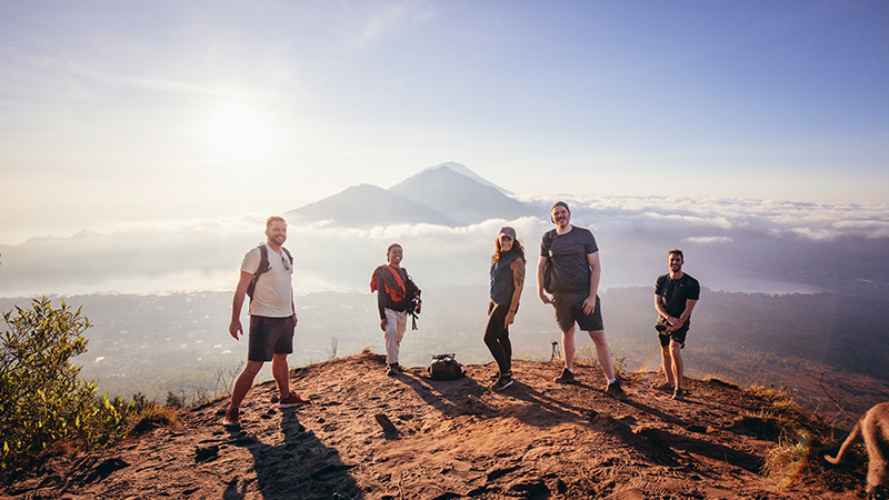 Sunrise at Mt Batur, Bali.
