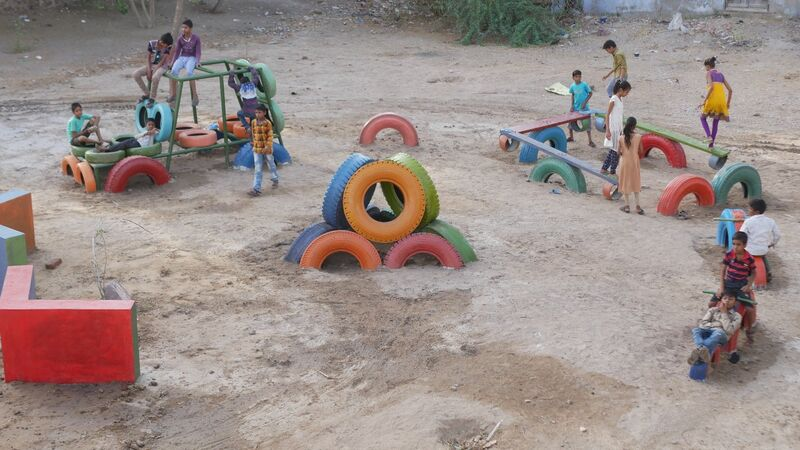 A playground in India