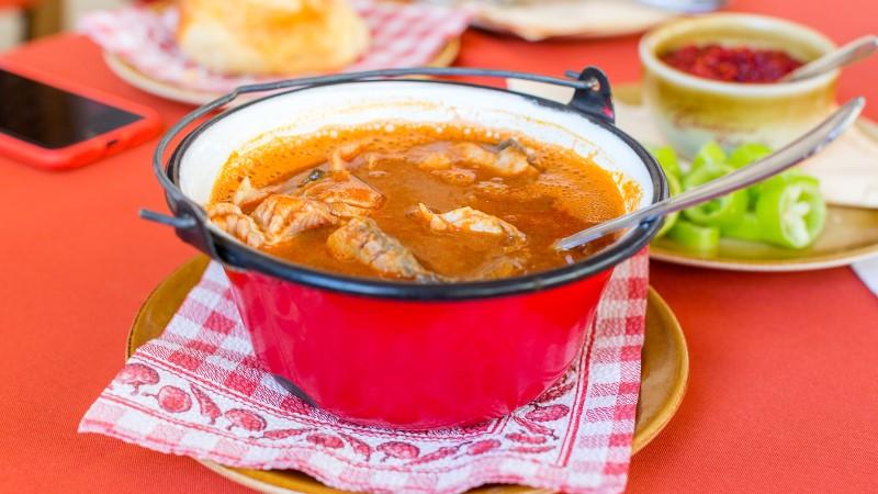Hungarian river fish soup