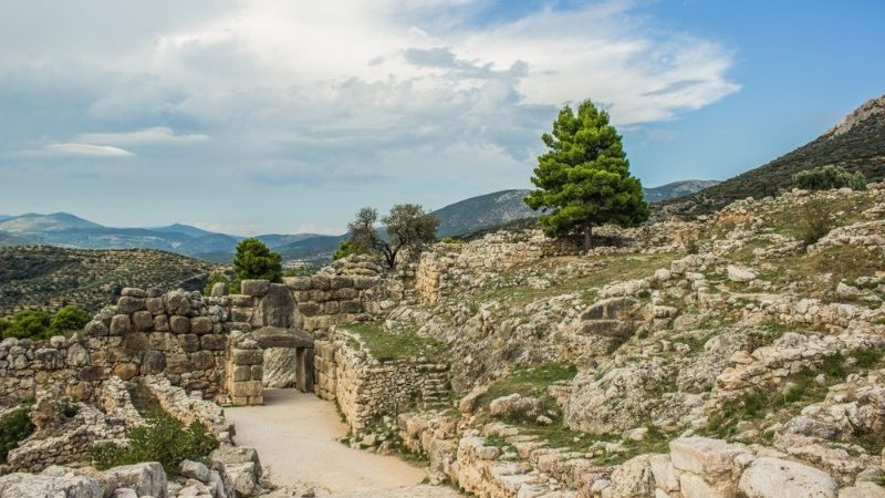 The ruins in Mycenae.