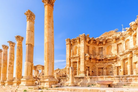 The nymphaeum at Jerash, Jordan