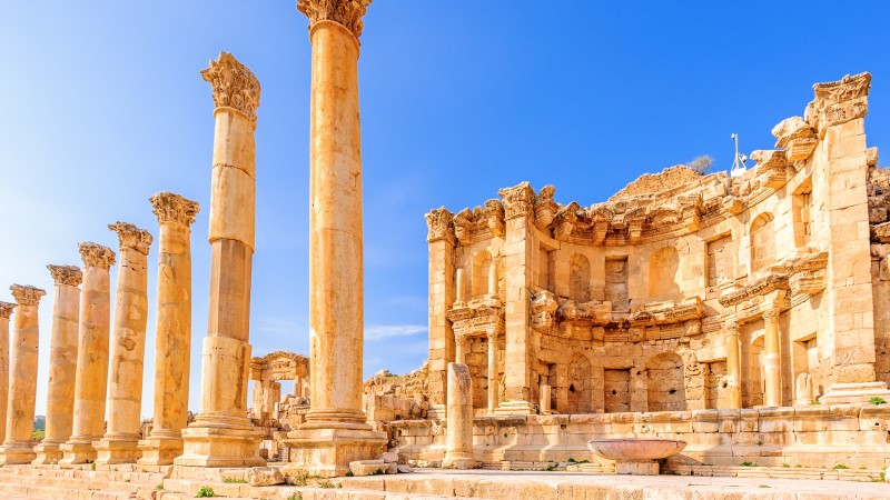 The nymphaeum at Jerash, Jordan