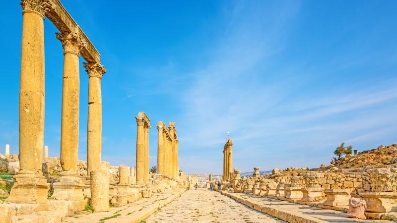 The cardo maximus at Jerash, Jordan