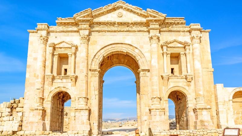 The Arch of Hadrian at Jerash, Jordan