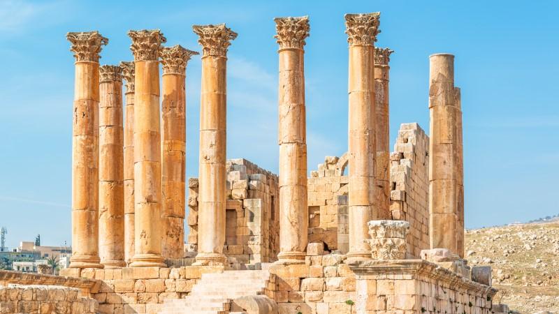 The Temple of Artemis at Jerash, Jordan