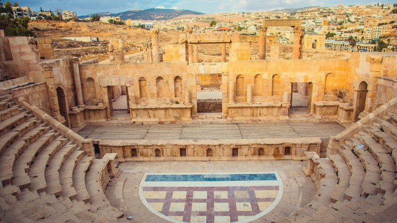 The North Theatre at Jerash, Jordan