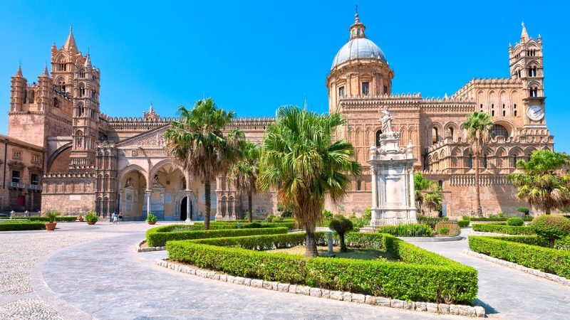 Beautiful old cathedral in Palermo