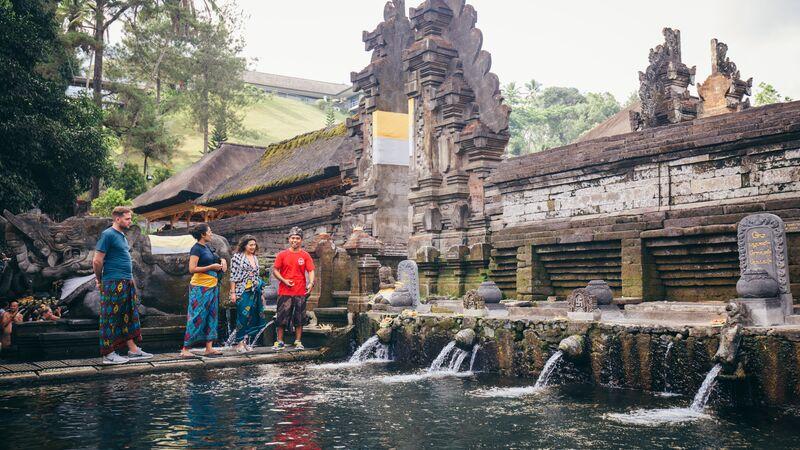 Tirta Empul Temple is Bali. Photo by Damien Raggatt.