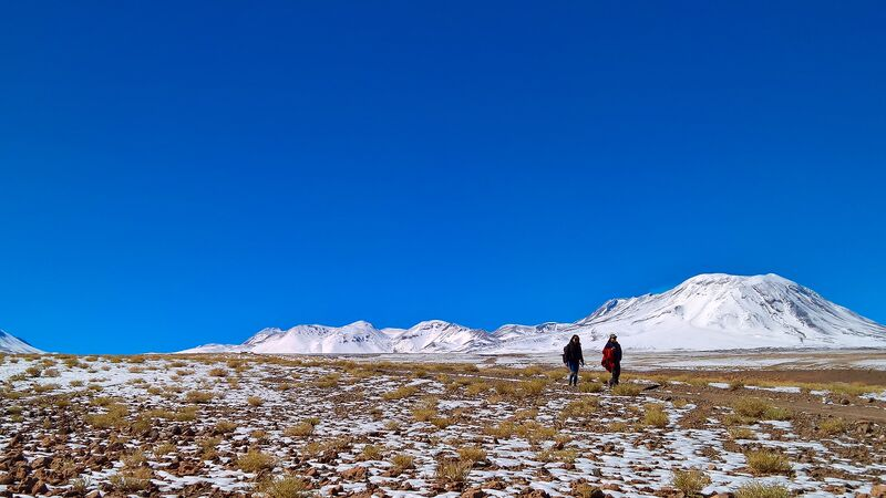 Hikers in the Atacama Desert