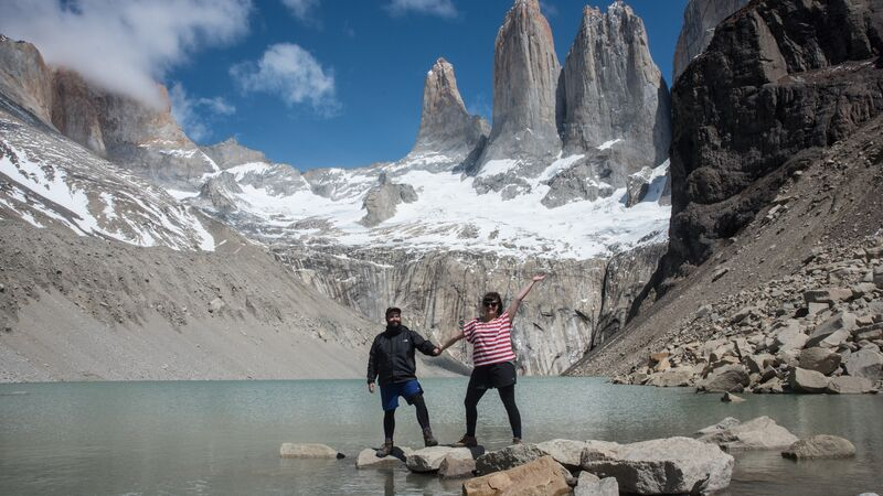 Two travellers in Patagonia, Chile