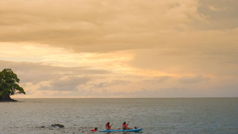 Kayakers in Costa Rica