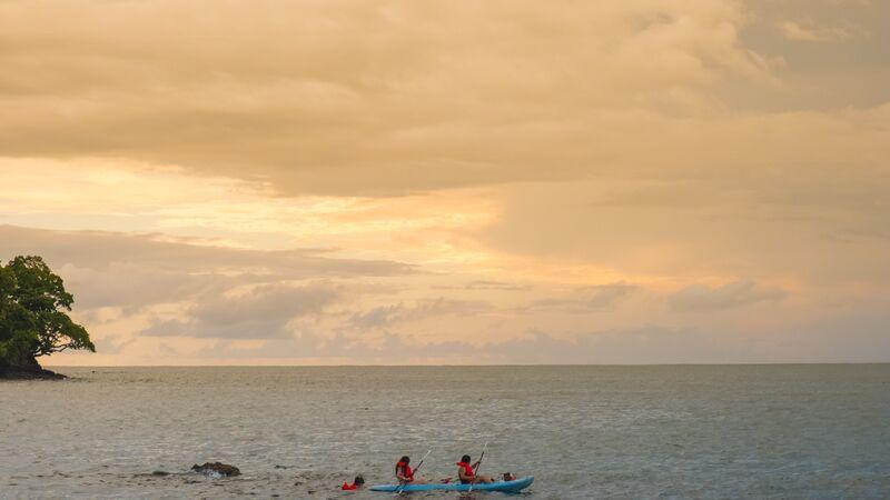 Kayakers in Costa Rica