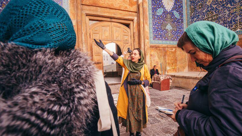 A tour guide in Iran