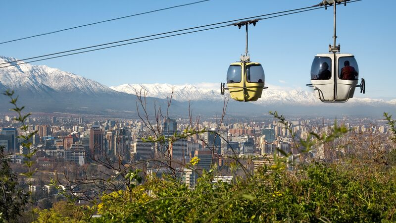 Cable cars in Santiago, Chile