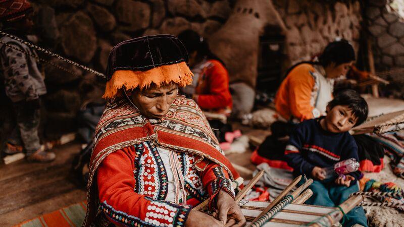 A local weaver in Cusco, Peru