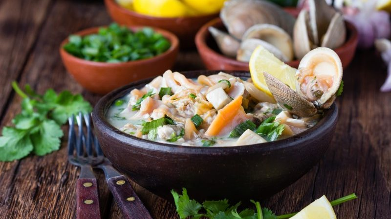 Bowl of seafood ceviche