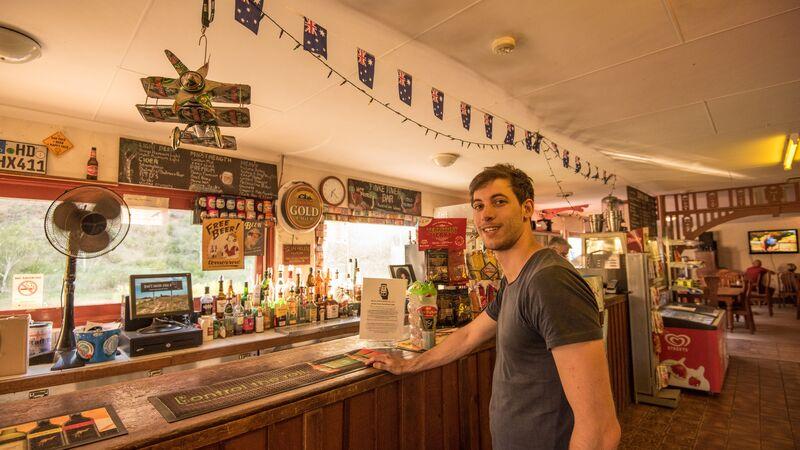 A man at the pub
