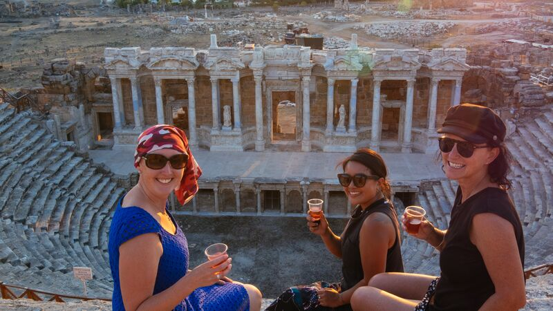 Travelers with Wine at Hierapolis