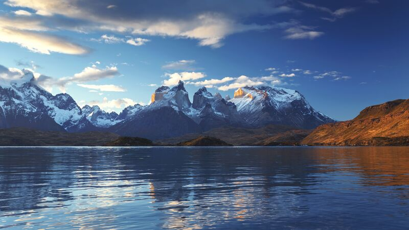 Mountains and a lake in Patagonia