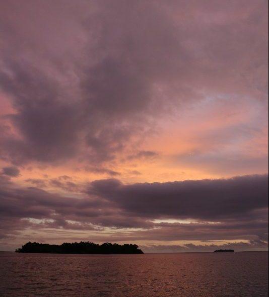 Atardecer en las Islas Salomón