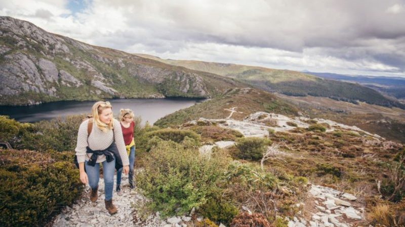 Hikers at Cradle Mountain, Tasmania