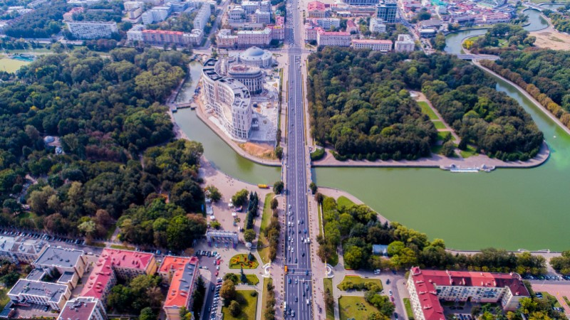 Independence Avenue in Belarus