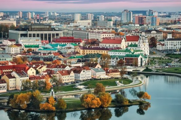 The Belarusian capital of Minsk
