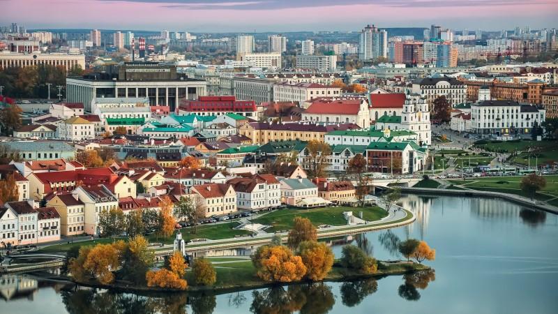 The Belarusian capital of Minsk