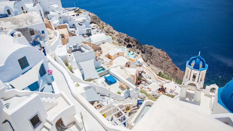 White buildings in Santorini