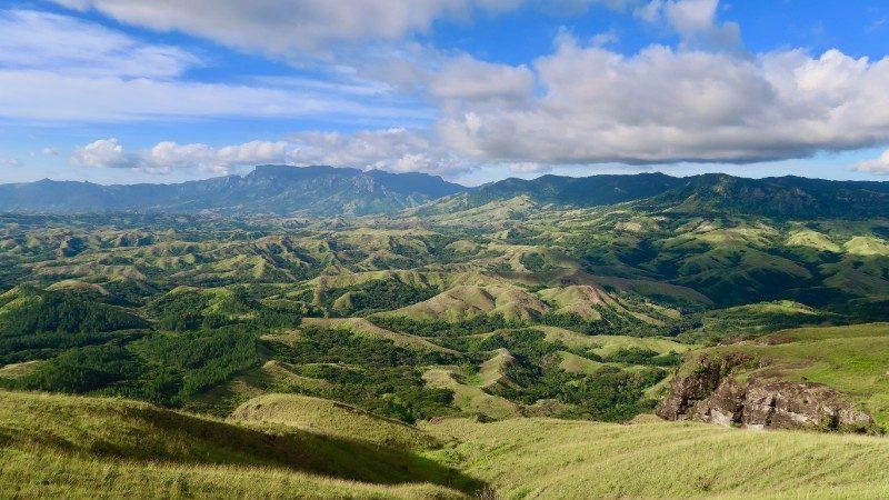 Rolling green hills in Fiji