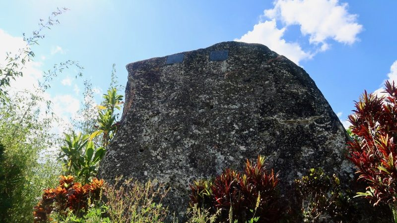 A large stone memorial