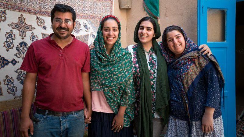 A local family in Iran.